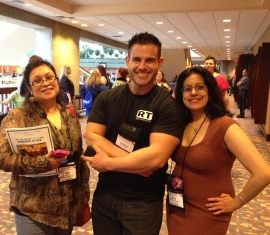Mina Khan, cover model Charles Paz and me!